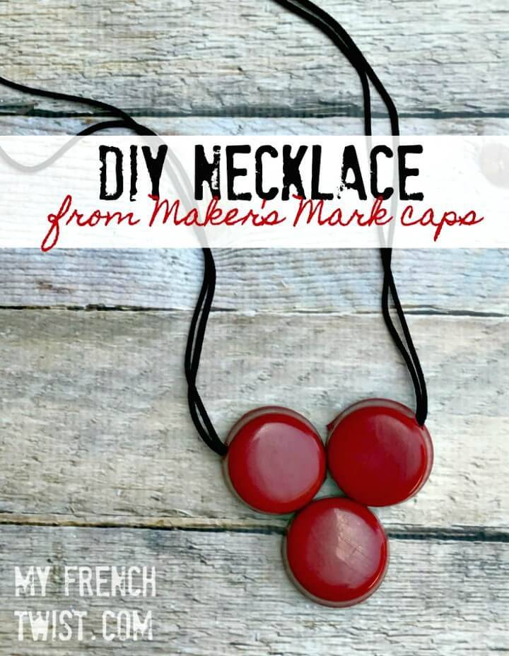 DIY Maker's Mark Caps Necklace