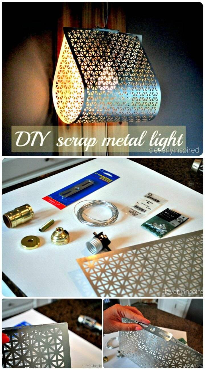 Modern Industrial Pendant Light - DIY Chandelier Ideas
