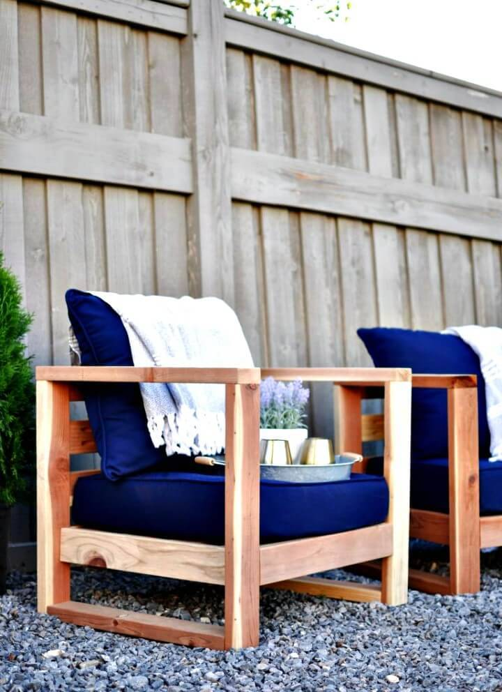 Modern DIY Outdoor Garden Chair - Furniture Ideas