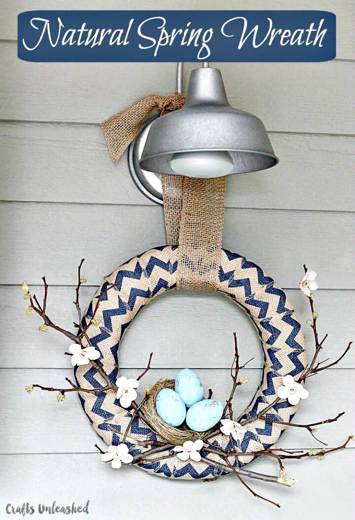 How to Make Natural Spring Wreath - DIY