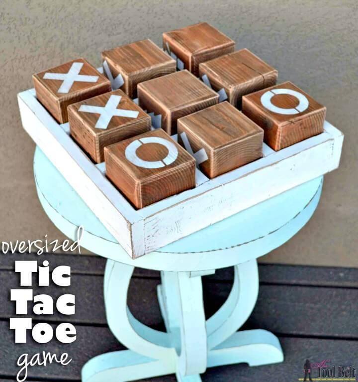 DIY Oversized Tic Tac Toe Game For Summer & Spring