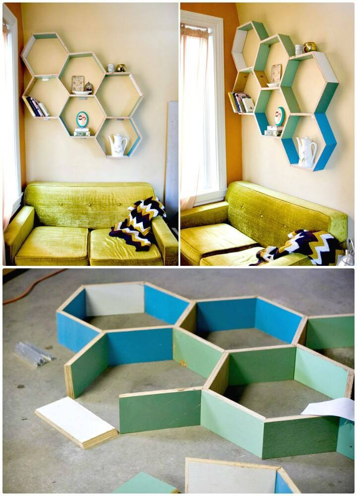 How to DIY Honeycomb Shelves