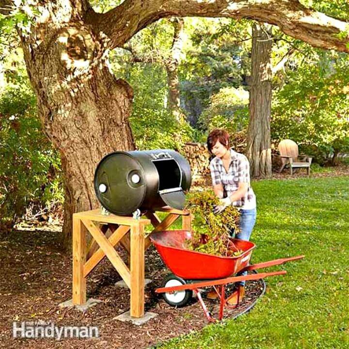 How to Build Compost Barrel Tumbler for Your Garden - DIY