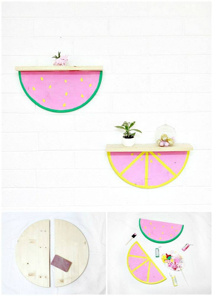 Quick DIY Fruit Slice Wood Shelves
