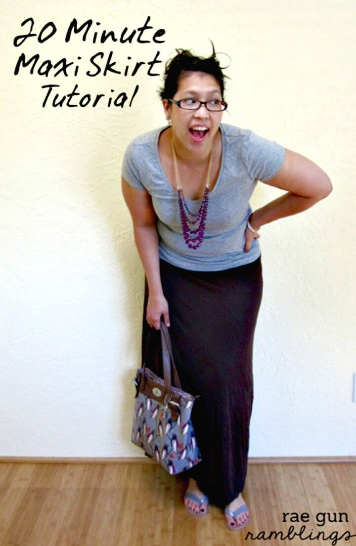 Quick DIY Maxi Skirt Just In 20 Minutes