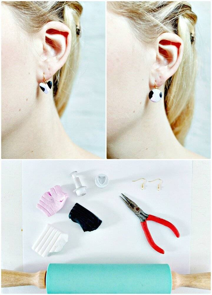 Quick DIY Minimal Clay Earrings
