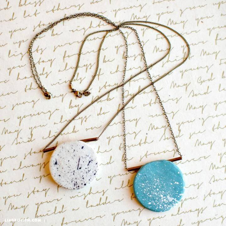 Quick and Easy DIY Polymer Clay Necklace