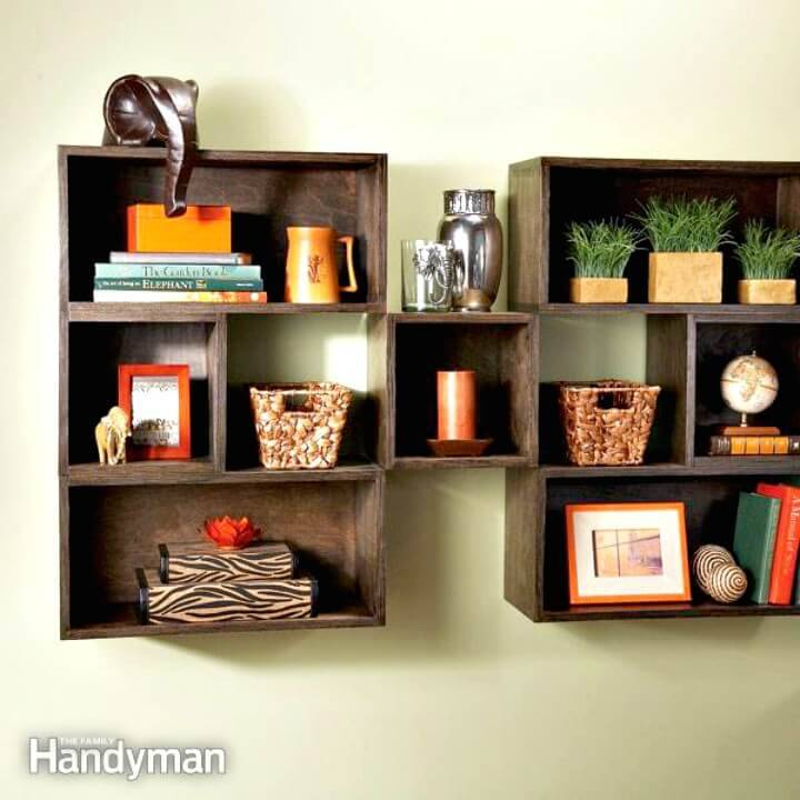 Quick and Easy DIY Wood Box Shelves