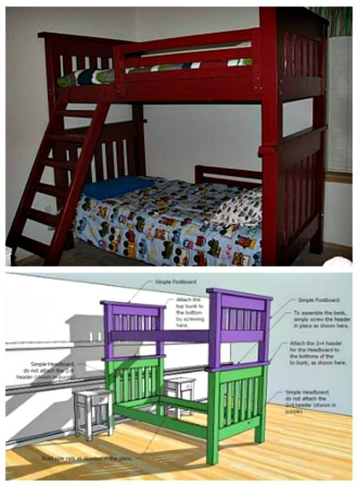 Simple to Make Bunk Bed - DIY