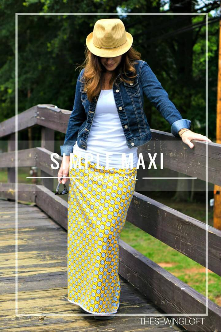 Simple DIY Maxi Skirt for Your Closet