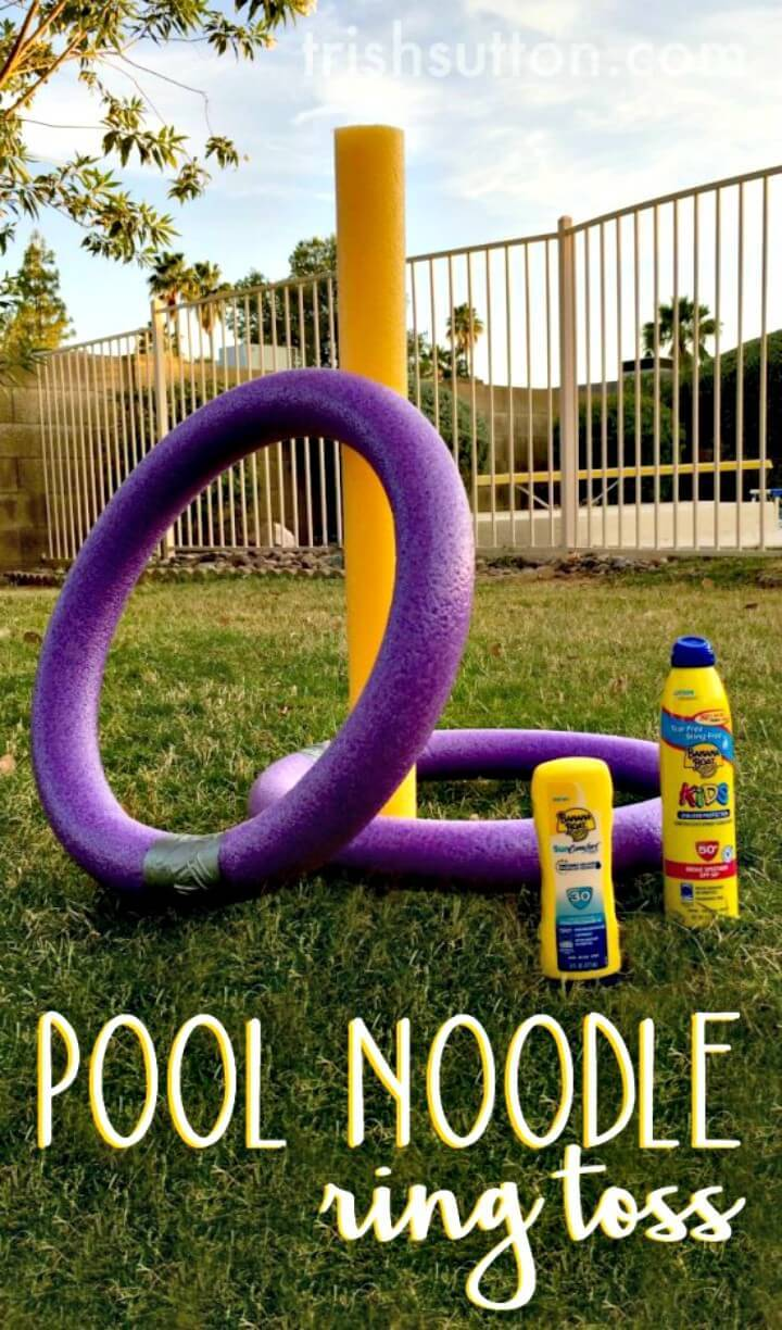 Simple DIY Pool Noodle Ring Toss For Summer & Spring