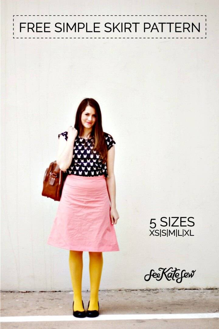 Simple DIY Skirt Free Pattern + Zippers