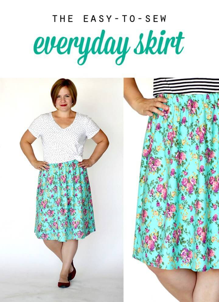 Simple DIY Everyday Skirt Sewing