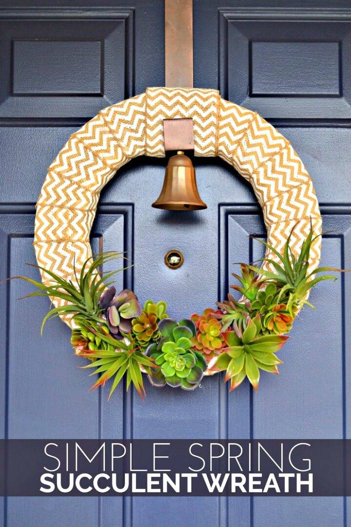 How to DIY Spring Succulent Wreath