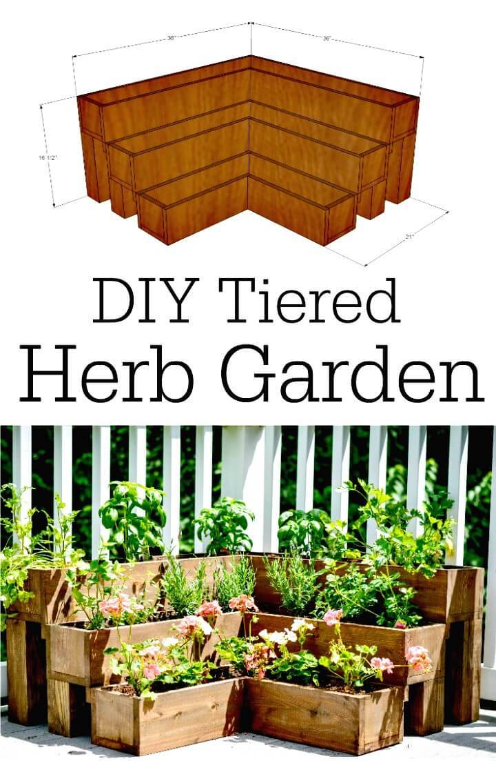 Easy and Adorable DIY Tiered Herb Garden