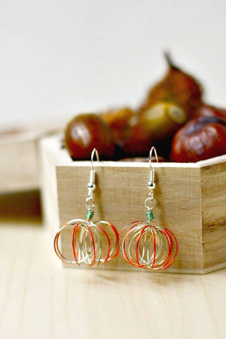 How to Make Wire Pumpkin Earrings