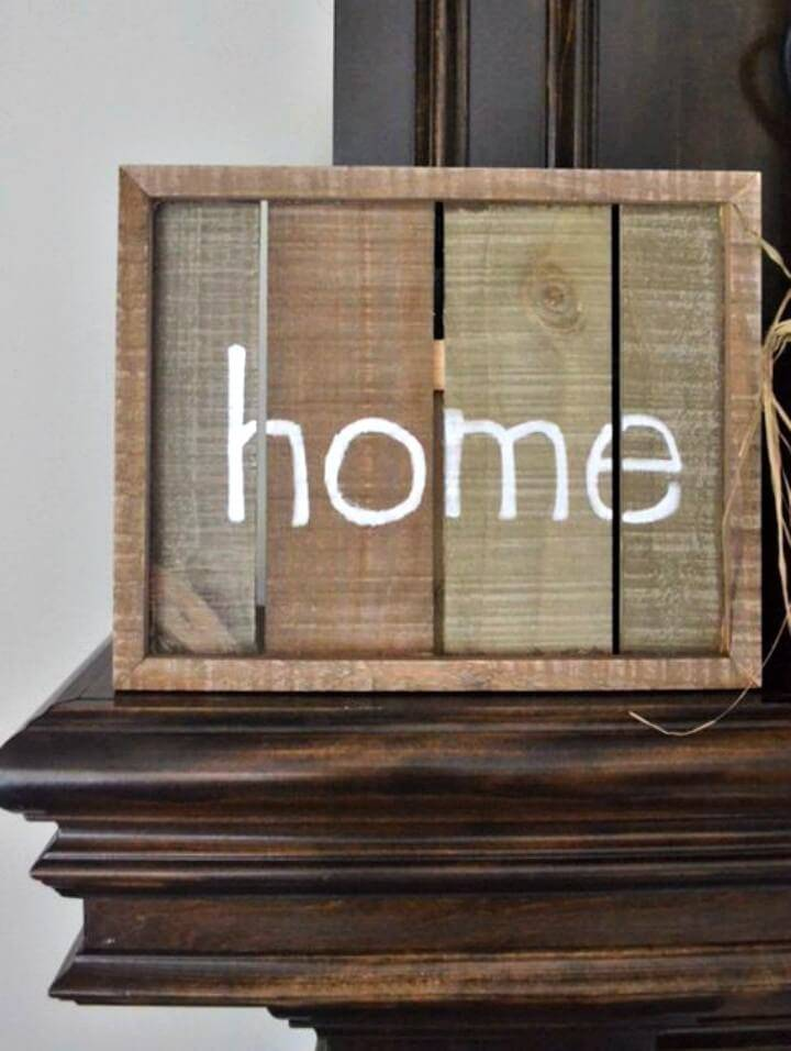 Simple DIY Home Wooden Sign
