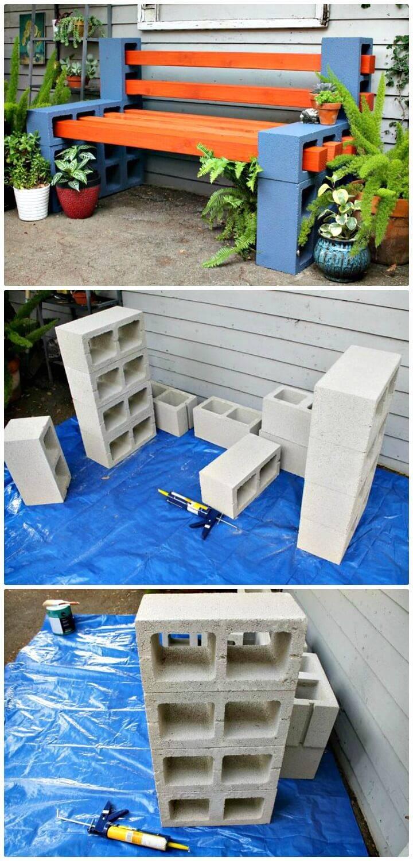 How To Build a Outdoor Bench - DIY Backyard Ideas