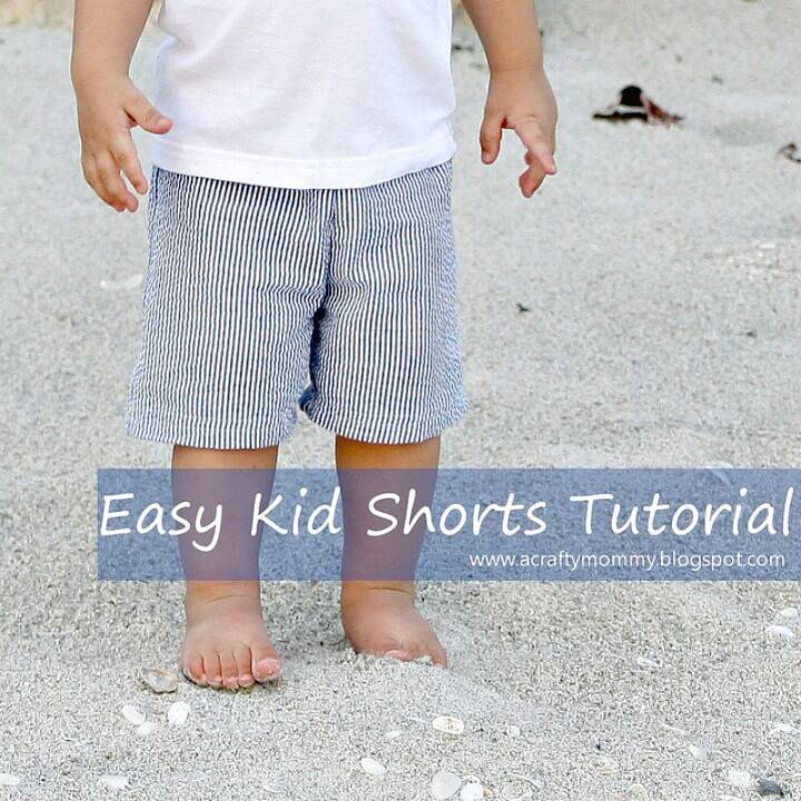 Simple DIY Sew Kid Shorts