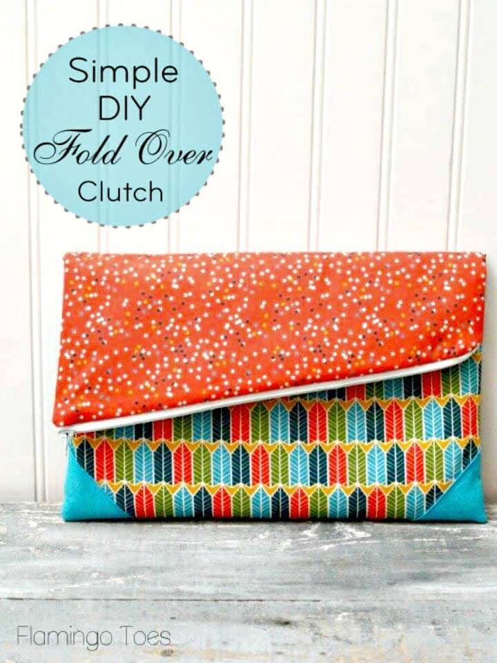 How to Make Fold Over Clutch - Easy and Simple DIY