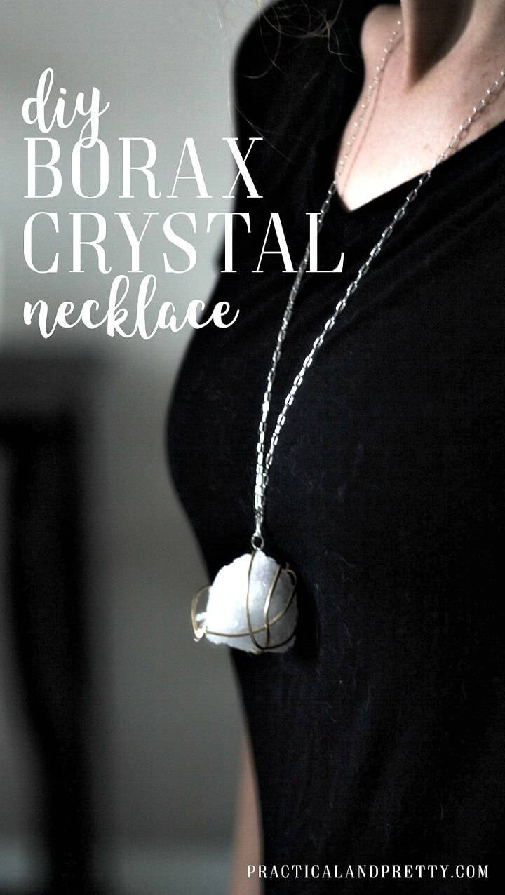Simple DIY Borax Crystal Necklace