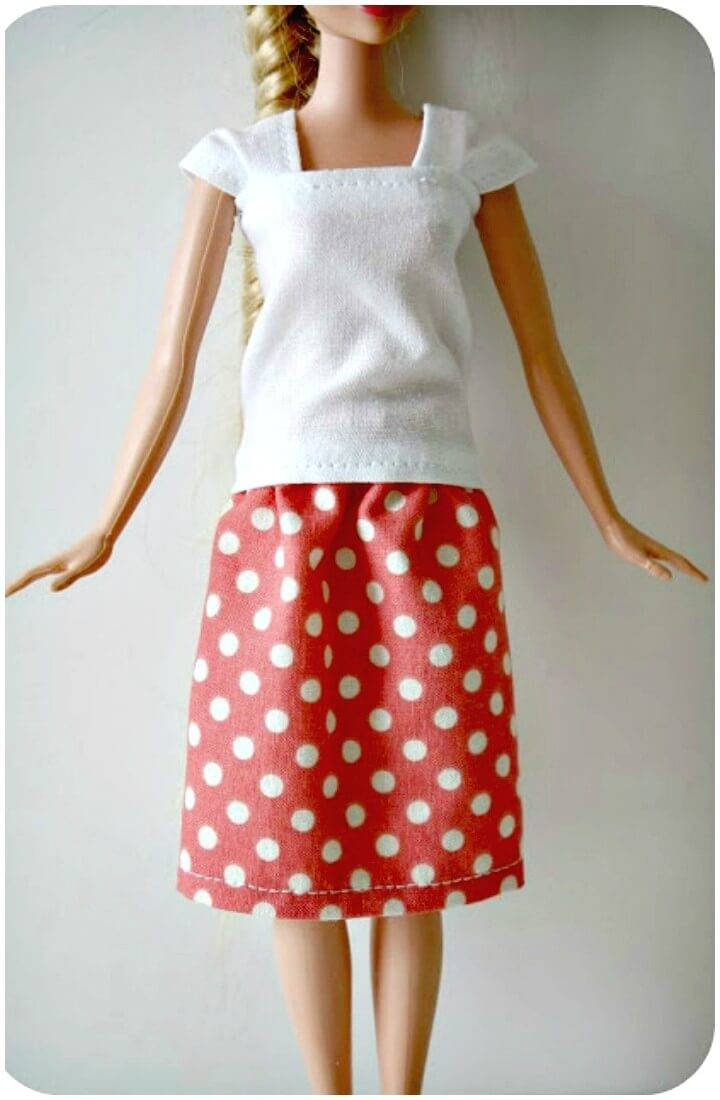 Easy and Quick DIY Barbie Skirt Tutorial