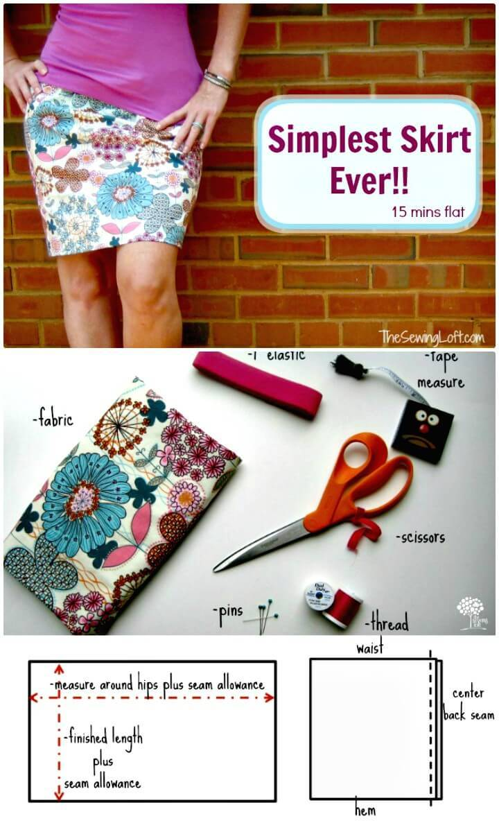 Simple and Easy DIY Skirt in 15 Minutes