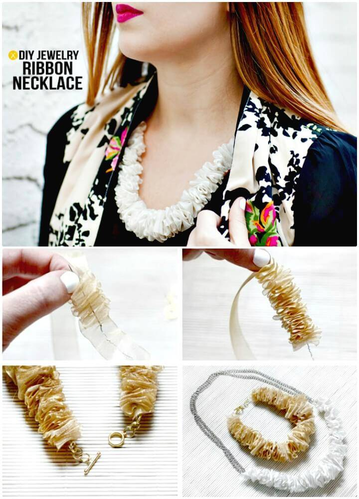 Super Cute DIY Ribbon Necklace