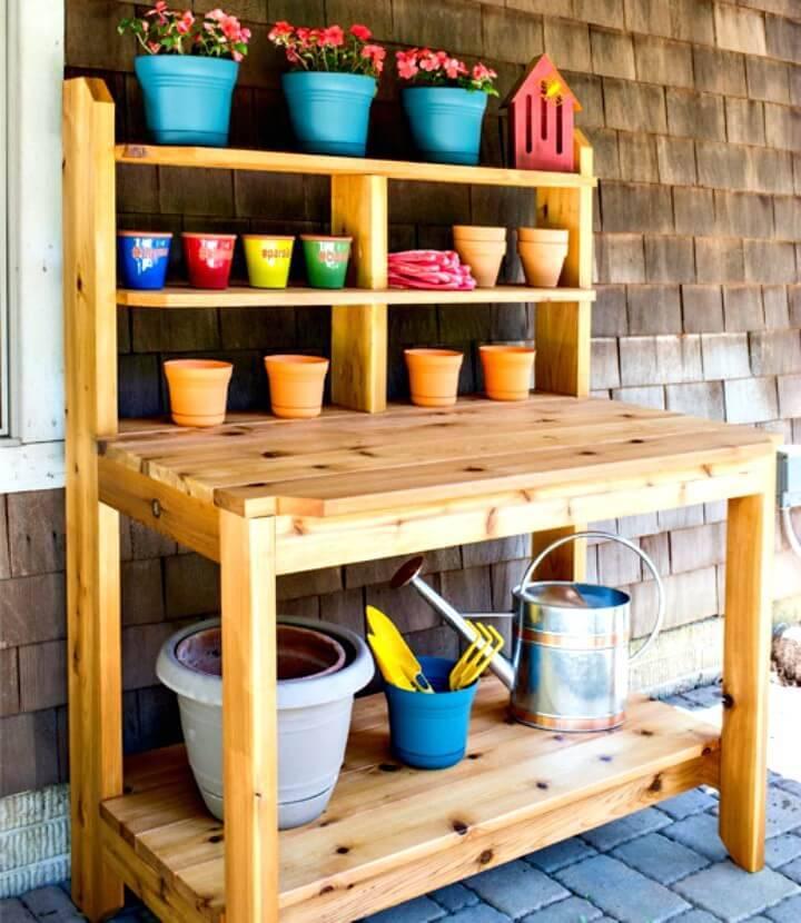 Build a Potting Bench - DIY Backyard Ideas