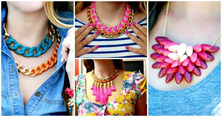105 Top DIY Necklace Ideas To Try Out This Weekend - DIY Necklaces - DIY Necklace Projects - DIY Fashion Ideas - DIY Crafts - DIY Projects