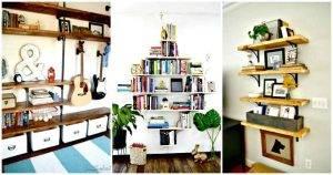109 Easy Ideas to Build DIY Shelves for Your Home Decor - DIY Shelf Ideas - DIY Bookshelf - DIY Storage Shelves - DIY Shelving - DIY Projects - DIY Home Decor - DIY Crafts - DIY Ideas
