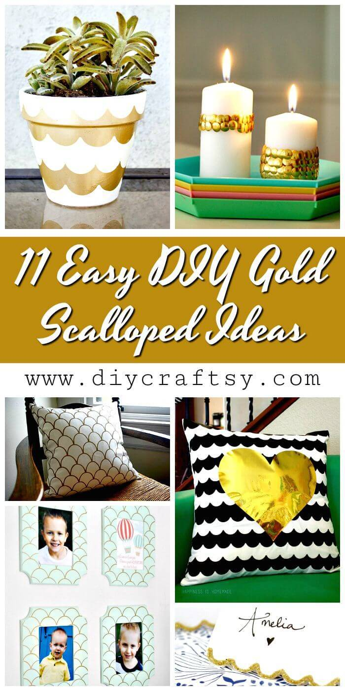 11 Easy DIY Gold Scalloped Ideas - DIY Crafts - DIY Projects