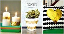 11 Easy DIY Gold Scalloped Ideas - Easy DIY Craft Ideas - DIY Projects
