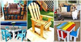 17 Pallet Chair Plans to DIY for Your Home - Pallet Ideas - Pallet Furniture Ideas - Pallet Projects - DIY Projects - DIY Crafts - DIY Ideas