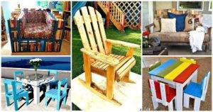 17 Pallet Chair Plans to DIY for Your Home at No-Cost