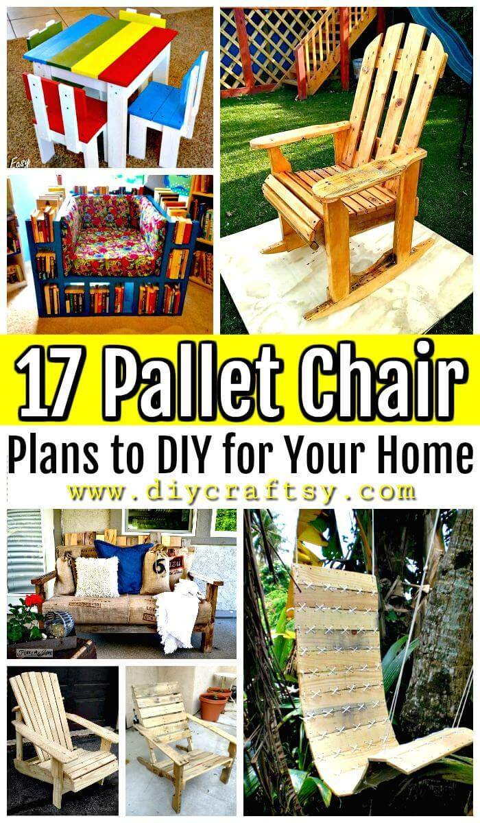17 Pallet Chair Plans to DIY for Your Home - Pallet Ideas - Pallet Furniture Ideas - Pallet Projects - DIY Projects - DIY Crafts