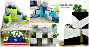 22 DIY Cinder Block Planter Ideas to Update Your Garden - concrete block raised garden bed plans - DIY planter ideas - diy garden ideas - diy projects - diy craft ideas