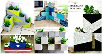 22 DIY Cinder Block Planter Ideas to Update Your Garden - concrete block raised garden bed plans - DIY planter ideas - diy garden ideas - diy projects - diy craft ideas