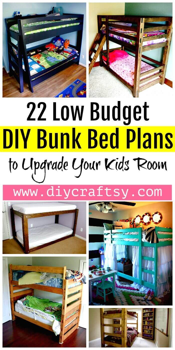 22 Low Budget DIY Bunk Bed Plans to Upgrade Your Kids Room - DIY Bed Ideas - DIY Crafts - DIY Projects