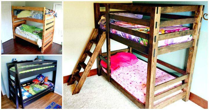 22 Low Budget DIY Bunk Bed Plans to Upgrade Your Kids Room - Easy DIY Bed Ideas - DIY Crafts - DIY Projects