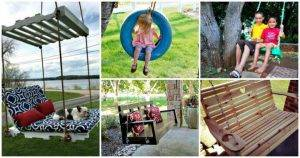 25 Easy to DIY Swing Ideas & Plans (Bed, Chair, Bench)