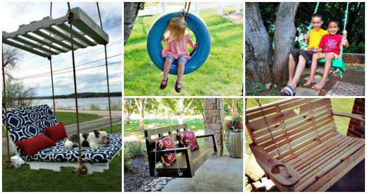 25 Easy to DIY Swing Ideas Plans Bed Chair Bench Swing - DIY Furniture Ideas - DIY Projects - DIY Crafts - DIY Swing Bed - DIY Swing Chair - DIY Swings