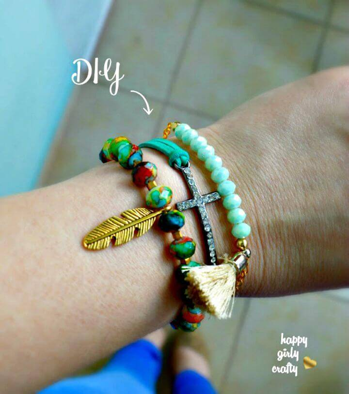 DIY Boho Spring Bracelets - 3 Ways To Make