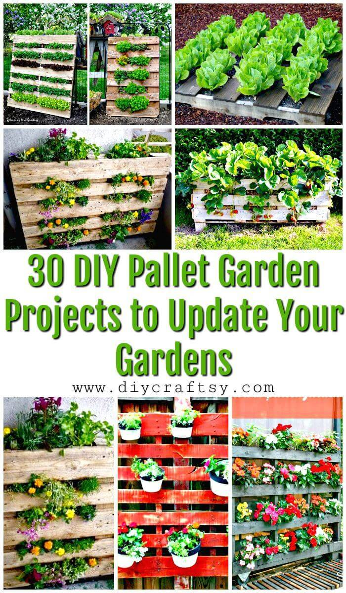 30 DIY Pallet Garden Projects to Update Your Gardens - Pallet Ideas - Pallet Furniture Ideas - Pallet Projects - DIY Projects - DIY Crafts