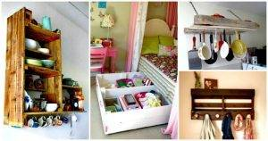 30 Pallet Ideas to Organize Your Home Storage