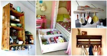 30 Pallet Ideas to Organize Your Home Storage - Pallet Ideas - Pallet Furniture Ideas - Pallet Projects - DIY Projects - DIY Crafts - DIY Ideas