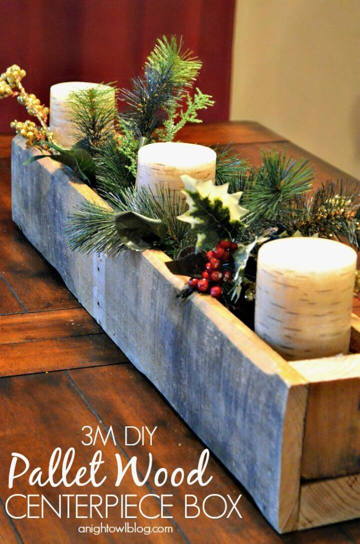 How to Build 3M Pallet Wood Centerpiece Box Tutorial