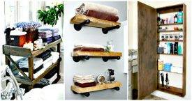 50 Unique DIY Bathroom Storage Ideas You Must Try - DIY Bathroom Projects - DIY Bathroom Decor Ideas - DIY Crafts - DIY Projects - DIY Ideas