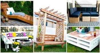 54 DIY Garden Furniture Ideas to Update Your Home Outdoor - DIY Outdoor Furniture Projects - DIY Furniture Plans - DIY Furniture Ideas - DIY Projects - DIY Crafts - DIY Ideas