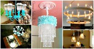 60 Easy DIY Chandelier Ideas That Will Beautify Your Home - DIY Chandelier Lamp - DIY Chandelier kit - DIY Projects - DIY Home Decor - DIY Crafts - DIY Ideas